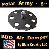 6' Polar Array BBQ Grill, Smoker or Pit Air Venting Damper Kit