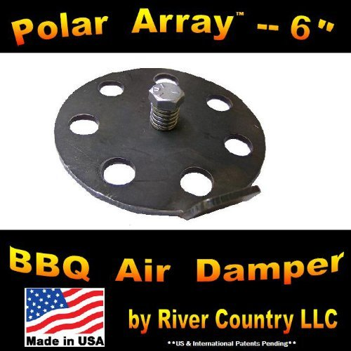 "6"" Polar Array BBQ Grill, Smoker or Pit Air Venting Damper Kit"
