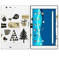 igsticker Qua tab PZ LGT32 全面スキンシール タブレット tablet LGエレクトロニクス シール ステッカー ケース 保護シール 背面 016378 クリスマス