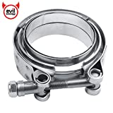 EVIL ENERGY 2.5 Inch Mild Steel Exhaust V Band Clamp Male Female Flange Assembly