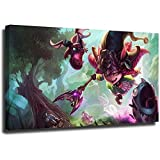 STTYE Póster de Leyendas de la Liga Pintura Abstracta de 40,6 x 61 cm, diseño de dragón Lulu, lienzo para dormitorio, decoración del hogar, enmarcado/listo para colgar
