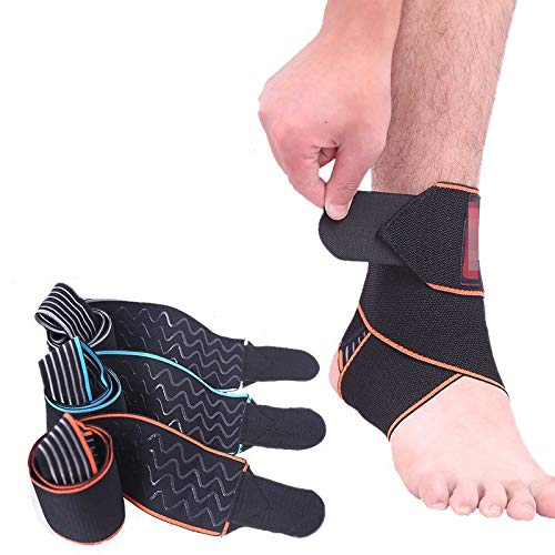 Atmungsaktiv Knöchelschützer Sport Anti-Rutsch-Knöchelriemen Unterstützt Brace Fußball Basketball Radfahren Stellfuß Schutz (Color : Red)