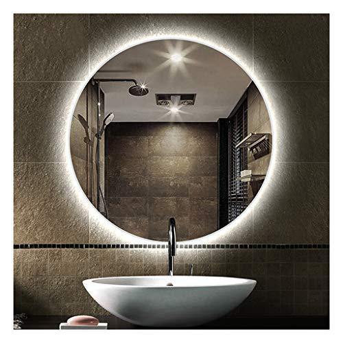 HTDZDX Espejo de baño retroiluminado Espejo sin Marco Espejo de Espejo antivaho con luz (Color : White Light, Size : 60cm)