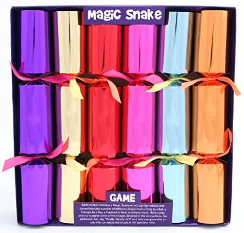 Kuckoo Crackers - 6 x 12-inch Magic Snake Christmas Crackers