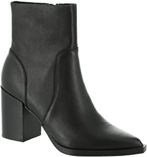حذاء كاحل Steve Madden Calabria للنساء، جلد أسود، 8. 5