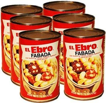 El Ebro delicious white bean fabada. Ready To Eat . 6 pack 15 oz. each serves 2
