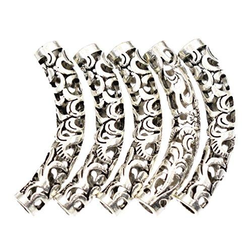 Juanya 20pcs Perles acryliques Bricolage Bracelet Collier Perles Accessoires Artisanat Art Fabrication de Bijoux d/écorations Rose