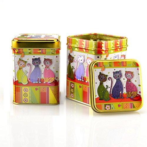 Teedose Set 2x 100g Katzen Teedosen