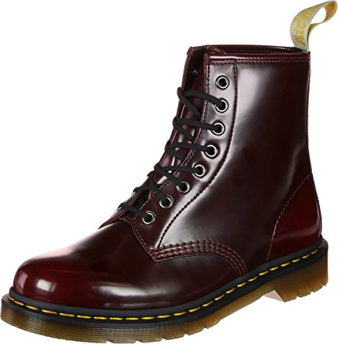 Dr. Martens Unisex-Erwachsene Vegan 1460 Stiefeletten, Red Cherry Red Cambridge Pinsel 600, 48 EU