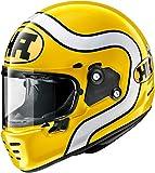 Casco de motocicleta Arai Rapide HA amarillo integral J&S (S)