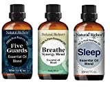Natural Riches Immunity Blend Set with Five Guards Essential Oils, Breathe Easy Essential Oils and Essential Oil Sleep Blend