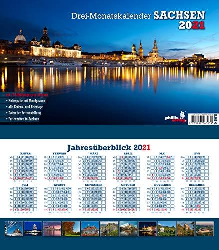 Drei-Monatskalender Sachsen 2021