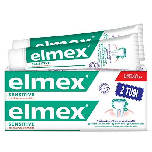 Elmex Sensitive Dentifricio Per Denti Sensibili, Triplice Azione Efficace Per Denti...
