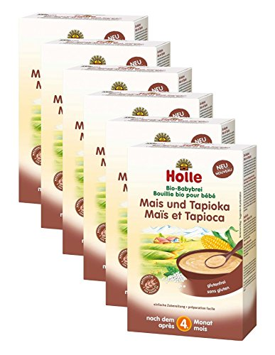Holle Bio-Babybrei Mais & Tapioka, 6er Pack (6 x 320 g)