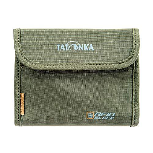 Tatonka Euro Wallet RFID B - Geldbeutel mit TÜV-geprüftem RFID Blocker - Bietet Platz für 4 Kreditkarten - Mit Sichtfenster, Münzgeldfach und extra Reißverschlussfach - Schützt vor Datenklau