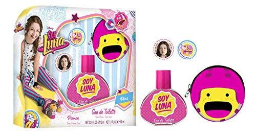 Soy Luna Conjunto Eau de Toilette, Monedero de La Moneda y 2 Pines - 1 Pack