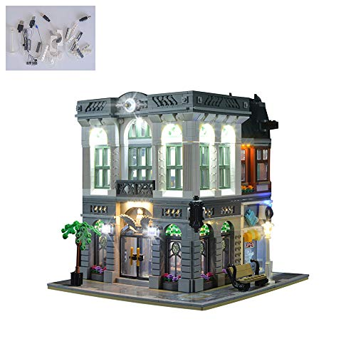 TZH Kit De Luces LED para El Modelo De Bloques De Construcción, Juego De Luces USB Compatible con Lego 10251 Brick Bank - Modelo No Incluido