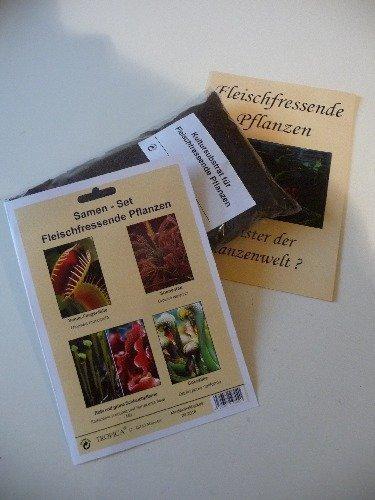 Tropica -Samenset - Fleischfressende Pflanzen - Venus-Fliegenfalle, Sonnentau und Cobralilie