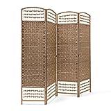 Relaxdays – Biombo/Panel/Divisor/Separador de Habitaciones, 179 x 180 x 2...