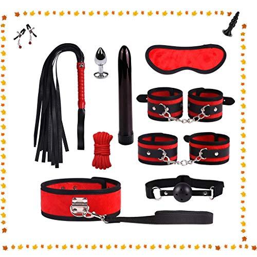 Plush Alternative Bundel Bondage Set van 11 Stukken van apparaten for volwassenen (Color : Red)