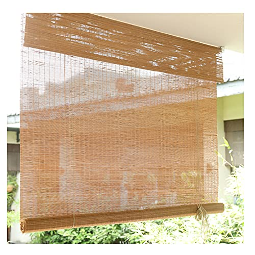 ZXCVBAS Cortina di bambù,Tenda A Rullo in bambù,Tenda Rullo bambù,Retro Bamboo Roll Up Shade Bamboo Shade per Patio Bamboo Blinds Outdoor Bamboo Roman Shade per Esterno Indoor,120x200cm 48x79in