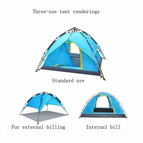 Xy Outdoor tent glazen stang hydraulische automatische 3 seconden snelheid openen dubbel regendicht 3-4 personen campingtent