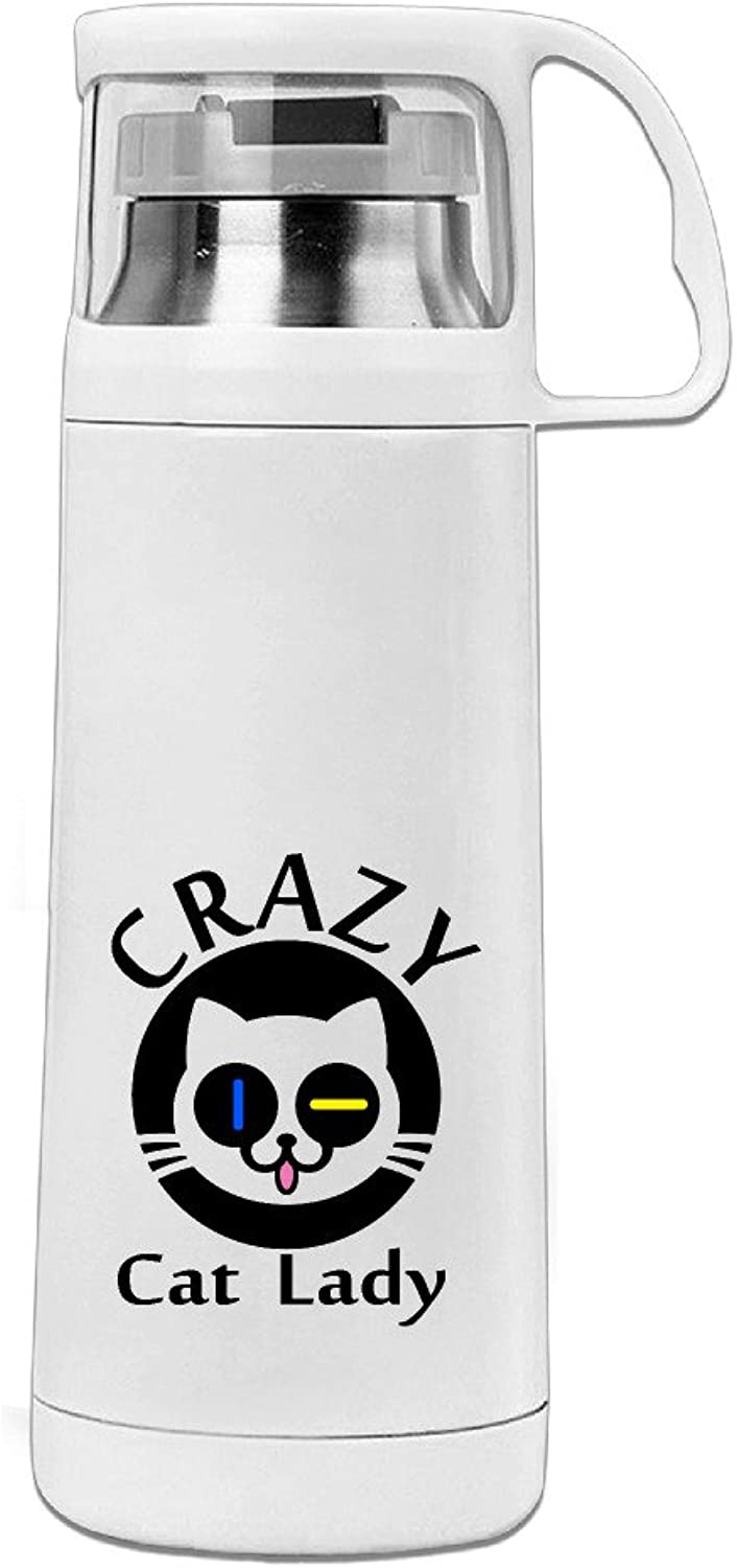Youx Crazy Cat Lady Thermal Hot Cold Insulation Water Cup Insulation Cup