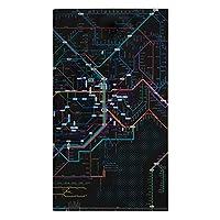 東京カートグラフィック 鉄道路線図 チケットホルダー 首都圏日本語ブラック × 5 セット RTHSJB