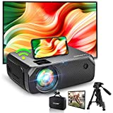 Bomaker WiFi Mini Projector, Native 1280x720P HD Portable Wireless Projector, Outdoor Movies/ Gaming Projector, 300 Inch Screen, for Android, iPhone, Laptop, PS4, TV Stick, DVD Player
