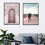 YDGG Marokko Poster Sahara Leinwand Malerei Islam Wandkunst
