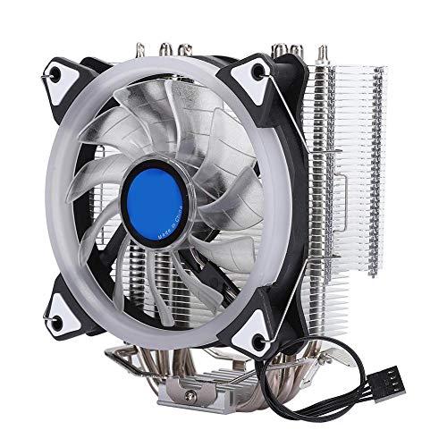 Naroote Ventilador de refrigeración CPU Cooler, 12CM Disipador de Calor para 1156