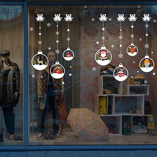 VIOYO Kerst Stickers Voor Raam Kerstmis Woonkamer Sneeuwman Muurstickers Raamdecoratie