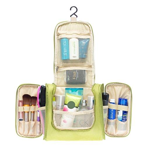Colleer Multifunctional Large Waterproof Shower Wash Bag with Hook - Green