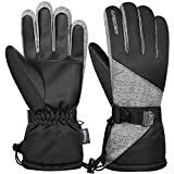 Anqier Winter Gloves for Women Thermal Waterproof Mens Ski Gloves 3M Thinsulate...