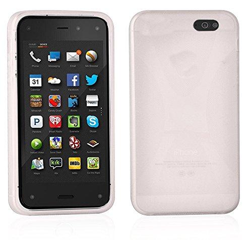 Cadorabo Custodia per Amazon FirePhone in Semi Transparente - Morbida Cover Protettiva Sottile di Silicone TPU con Bordo Protezione - Ultra Slim Case Antiurto Gel Back Bumper Guscio