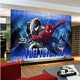 カスタム壁紙モダンな大規模3dアニメーションスパイダーマンソファベッドルームテレビ背景壁紙