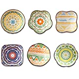 Ceramic Dip Bowls Set for Dessert,Soy,Condiments,Side Dishes,Dip,Ice Cream Sauce Dish,Set of 6,4 Oz