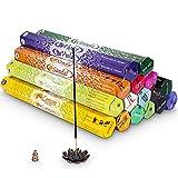Bastoncini di Incenso confezione da 16 di lunga durata Aroma Sticks di Lunga Durata 320 Profumo bastoni Profumo bastoni Salvia,giglio,lavanda,tuberosa,ylang e molti altri,2 Porta Incenso incluso