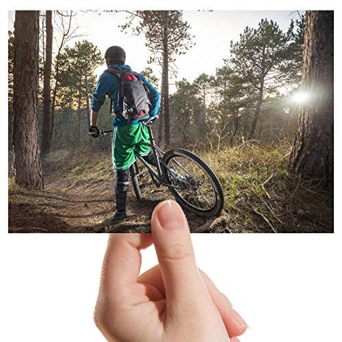 Photograph 6' x 4' - Mountain Bike BMX Trail Racing Art Print 15 X 10 cm (6 X 4 in) 280gsm satin gloss photo paper #8657