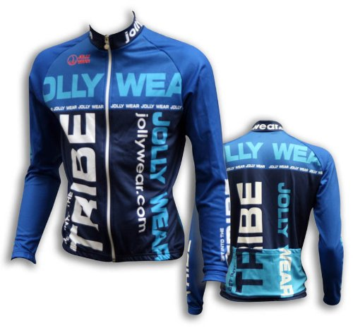 Jolly Wear Marc Maglia Manica Lunga Ciclismo, Blu, XXL