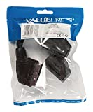 Valueline VLVP31070B02 Cavo Sdoppiatore SCART Maschio - 2x Femmina, 0.20 m, Nero