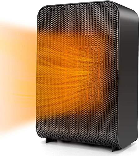 LYANXI Calentador eléctrico portátil con protección contra descarga y sobrecalentamiento con termostato para uso en el piso de escritorio en interiores
