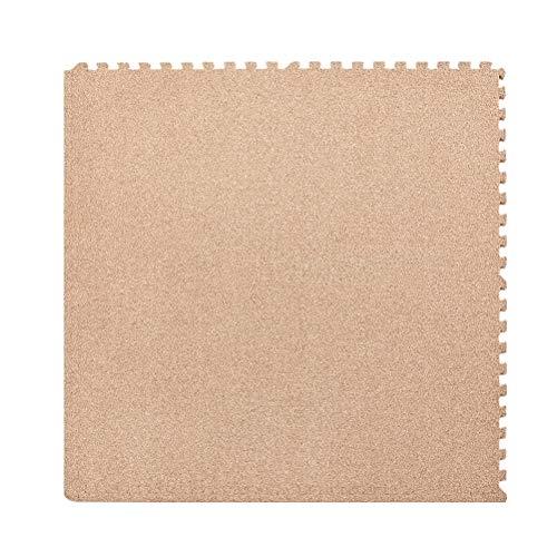 QUD Tatami Matten Boden Teppiche Platz Schlafzimmer Kissen Unternehmen Büro Studio Teppich Crushed Velvet Teppich Schwarz Teppiche for Wohnzimmer 19/12/30 (Color : Orange, Size : 60x60x1cm(4 Pieces))