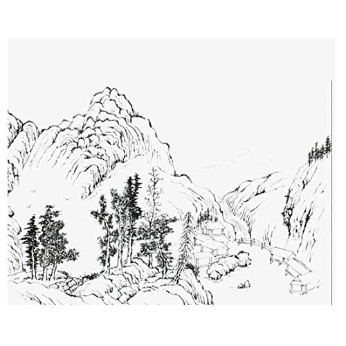 Freihand abstrakte Tapete handgemalte minimalistische chinesische Tuschemalerei