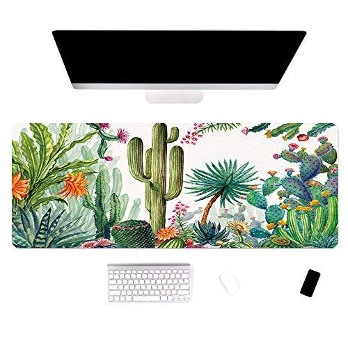 alfombrilla de ratón de impresión de planta alfombrilla de mesa grande para el hogar alfombrilla de teclado para computadora portátil Alfombrilla de ratón antideslizante lavable 600x300x3mm