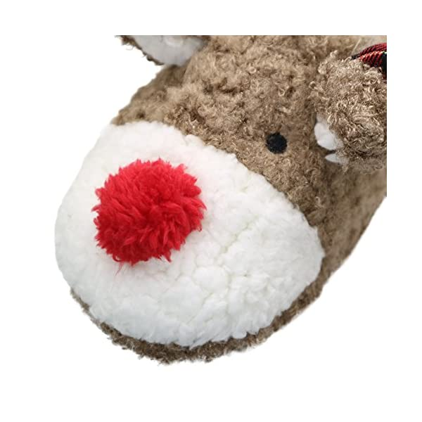 Thgonwid Women's Hand Made Lovely Deer Plush Soft Warm Home Slippers Shoes