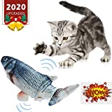 Electric Catnip Toys - Moving Cat Kicker Fish Toy, Wiggle Fish Catnip Toys