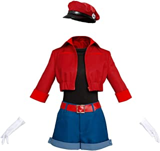 Cells at Work Erythrocite Red Blood Cell Cosplay Costume Full Set Suit Jacket with Hat