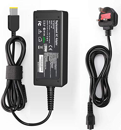 65W Lenovo Laptop Charger USB Tip 20V 3.25A AC Adapter for LenovoThinkPad X/E/S/L/B/U/T/K/Z/Y/G/Yoga Helix Flex Series with Power Supply Cord Plug