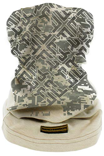 BENCHMARK FR Flame Resistant Face Mask Neck Gaiter, One Size, Soft FRC (Camoflage Face...